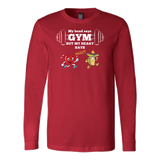 Taco mexian my head say gyms but my heart says taco Long Sleeve Funny T Shirt - TL00613LS