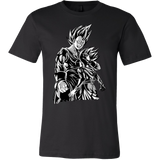 Super Saiyan Majin Vegeta and Trunks Men Short Sleeve T Shirt -TL00218SS