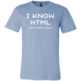 I know html programming Men Short Sleeve Funny T Shirt - TL00617SS