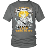 Super Saiyan - i dont need anger management -Men Short Sleeve T Shirt - TL01379SS