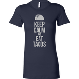Taco mexican keep calm and eat tacos Woman Short Sleeve Funny T Shirt -TL00597WS