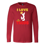 Taco mexican i love tacos Long Sleeve Funny T Shirt - TL00590LS