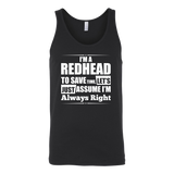 Hobbies - I m a redhead to save time - Unisex tank top t shirt - TL00830TT