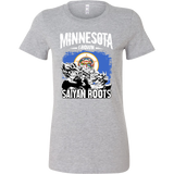 Super Saiyan Minnesota Growns Saiyan Roots Woman Short Sleeve T Shirt - TL00158WS