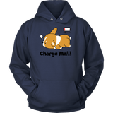 Pet - Immortal Unisex Corgi Cute Puppy Low Battery Funny - Unisex Hoodie T Shirt - TL00825HO