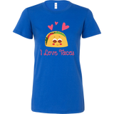 Taco mexican i love tacos Woman Short Sleeve Funny T Shirt - TL00593WS