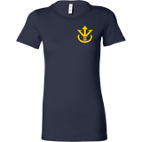 Super Saiyan Yellow Vegeta Saiyan Crest Woman Short Sleeve T shirt - TL00014WS