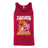 Super Saiyan Gohan Show Mercy in Battle Unisex Tank Top T Shirt - TL00447TT