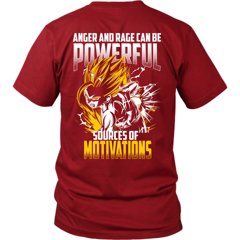 Super Saiyan Gohan shirt - Anger and Rage can be powerful sources of motivations - Short Sleeve Gym Shirt - TL01357SS - Back