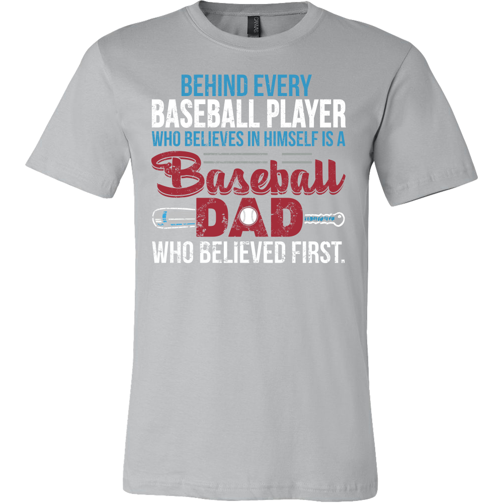 4cf55a5f Family - Behind Every Baseball Player Is A Baseball Dad - Men Short Sleeve  T Shirt - TL00762SS