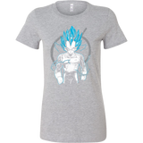 Super Saiyan Vegeta God Woman Short Sleeve T Shirt - TL00525WS