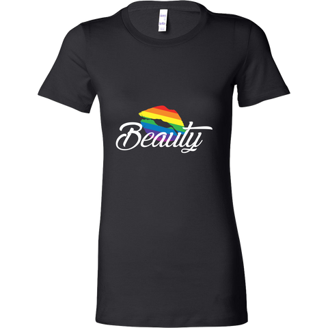 Matching Couples T-shirt ,Beauty Gay Lesbian LGBT Shirt - Woman Short Sleeve T Shirt - TL01266WS