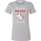 Hobbies - only 2% of the world has red hair - women short sleeve t shirt - TL00834WS