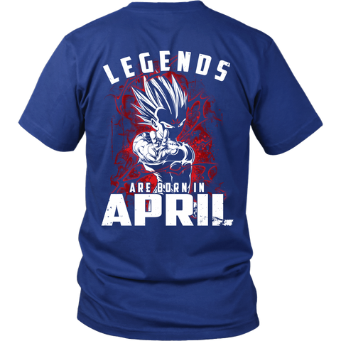 Super Saiyan - Lengends all born in April - Men Short Sleeve T Shirt - TL01038SS