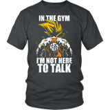 Super saiyan goku not to talk in gym training workout Men Short Sleeve T Shirt - TL00553SS