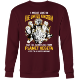 Super Saiyan I May Live in United Kingdom Sweatshirt T Shirt - TL00111SW
