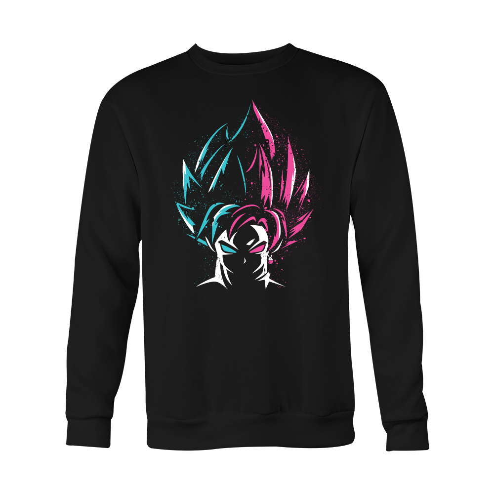 Super Saiyan - Super Saiyan Blue vs Super Saiyan Rose - Holiday Special Sweatshirt T Shirt - TL00829SW