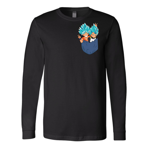 Super Saiyan - Saiyan god in pocket - Unisex Long Sleeve T Shirt - TL01340LS