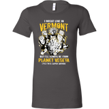 Super Saiyan I May Live In Vermont Woman Short Sleeve T Shirt - TL00105WS