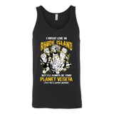 Super Saiyan I May Live in Rhode Island Unisex Tank Top T Shirt - TL00102TT