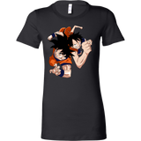 Super Saiyan Goku And Luffy Woman Short Sleeve T Shirt - TL00538WS