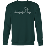 Christmas Sweatshirt - HUNTING HEARTBEAT, GLOW IN THE DARK - Unisex Sweatshirt T Shirt - TL00975SW