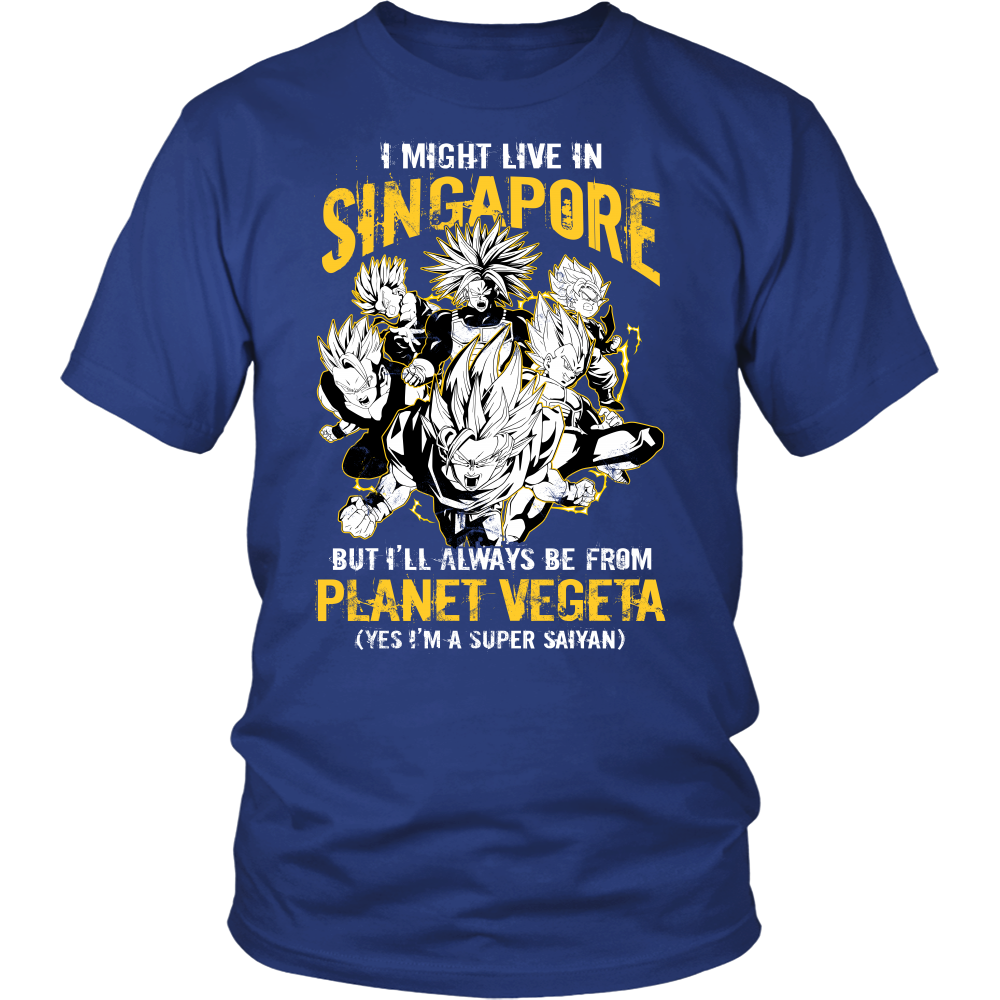 Super Saiyan - I May live in Singapore - Men Short Sleeve T Shirt - TL00114SS