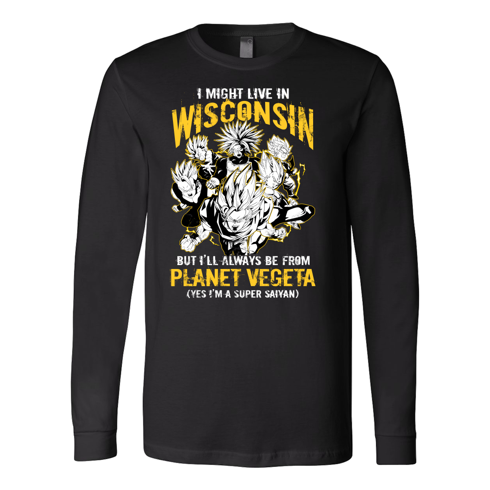 Super Saiyan Wisconsin Long Sleeve T shirt - TL00076LS