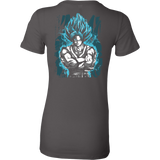Super Saiyan - SSJ Vegito God Blue - Woman Short Sleeve T Shirt - TL00897WS