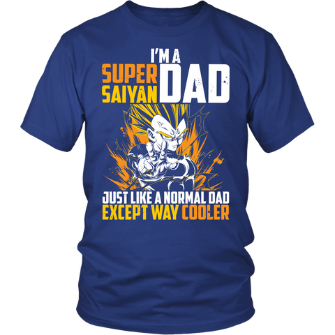 Super Saiyan Vegeta Dad Men Short Sleeve T Shirt - TL00533SS