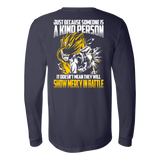Super Saiyan Gohan Show Mercy in Battle Long Sleeve T shirt - TL00447LS