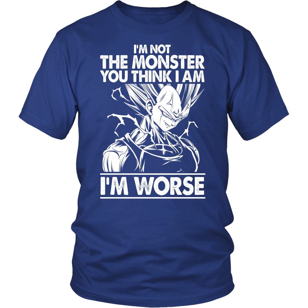 Super Saiyan Majin Vegeta I'm Not Monster Men Short Sleeve T Shirt - TL00051SS