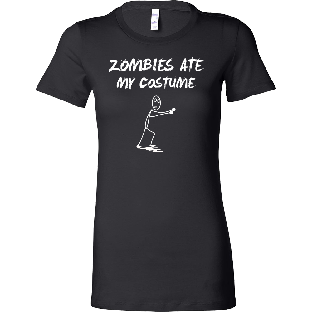 Halloween - Zombie Ate My Costume - Women Short Sleeve T Shirt - TL00806WS