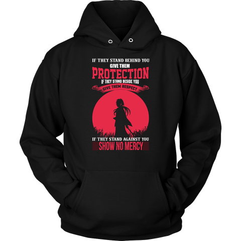 Rurouni Kenshin - If They Stand Against You, Show No Mercy - Unisex Hoodie T Shirt - TL01078HO