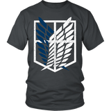 Attack on titan - survey corps logo - Men Short Sleeve T Shirt - TL01192SS