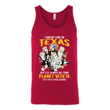 Super Saiyan I May Live in Texas Unisex Tank Top T Shirt - TL00061TT