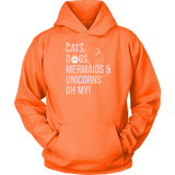 Pet - Cats, Dogs, Mermaids, Unicorns - Unisex Hoodie T Shirt - TL00736HO