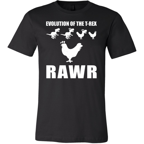 Dinosaur - Evolution Of The T-Rex Rawr -Men Short Sleeve T Shirt - TL00858SS - The TShirt Collection