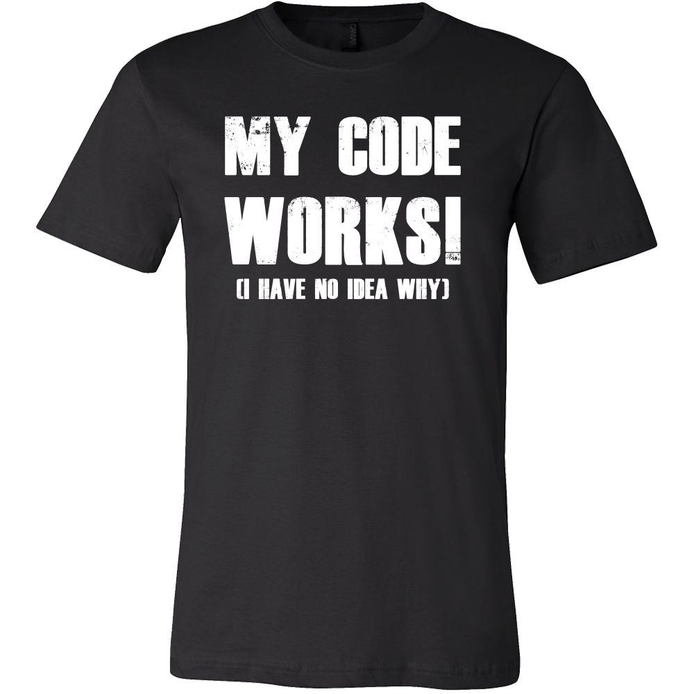 My code works i have no idea why programming Men Short Sleeve Funny T Shirt - TL00615SS