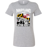 Super Saiyan Maryland Growns Saiyan Roots Woman Short Sleeve T Shirt - TL00160WS