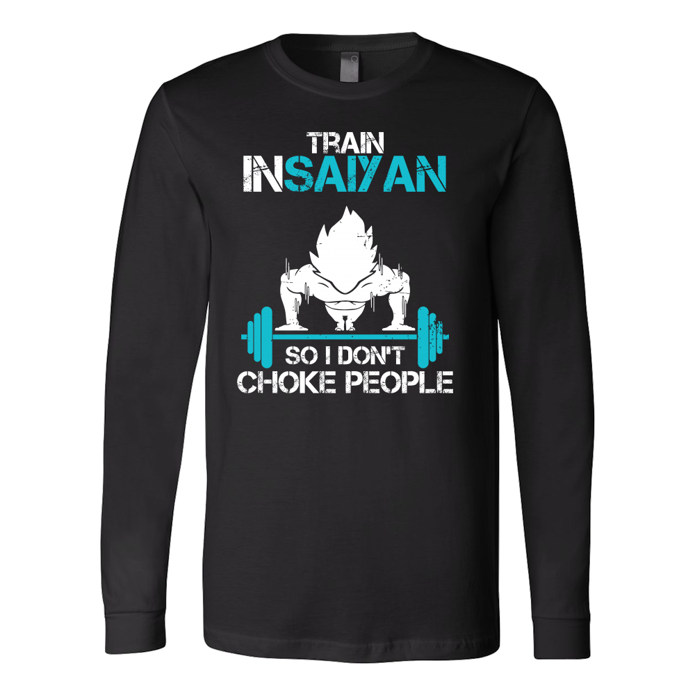 Super Saiyan Goku Choke Training Gym Long Sleeve T shirt - TL00551LS