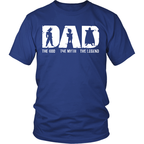 Super Saiyan -Dad the god the myth the legend  - Unisex Short Sleeve - TL01363SS