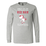 Hobbies - only 2% of the world has red hair - unisex long sleeve t shirt - TL00834LS