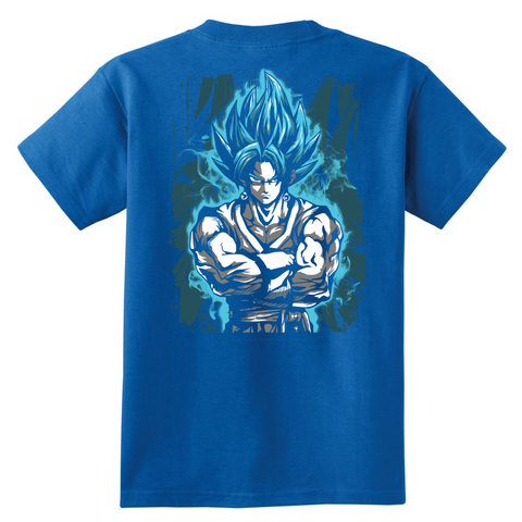 Super Saiyan - SSJ Vegito God Blue - Youht Short Sleeve T Shirt - TL00897YS