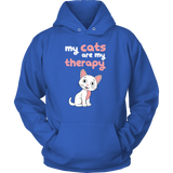 Pet - My cats are my therapy - Unisex Hoodie T Shirt - TL00997HO
