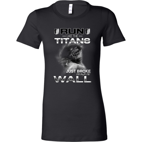 Attack On Titan - Run Like The Titans - Woman Short Sleeve T Shirt - TL01270WS