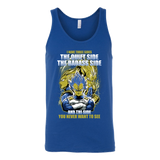 Super Saiyan - Vegeta SSj Blue three sides - Unisex Tank Top T Shirt - TL01161TT