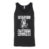 Super Saiyan Majin Vegeta Fear of Becoming so Awsome Unisex Tank Top T Shirt - TL00451TT