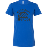 Taco mexican holy shit i love tacos Woman Short Sleeve Funny T Shirt - TL00585WS