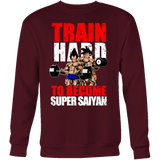 Super Saiyan Vegeta and Goku Gym Train Hard Sweatshirt T Shirt - TL00442SW
